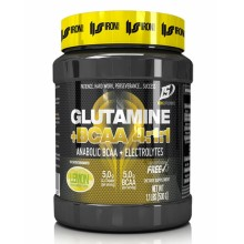 Glutamine + BCAA 4:1:1 500g IRON SUPPLEMENTS